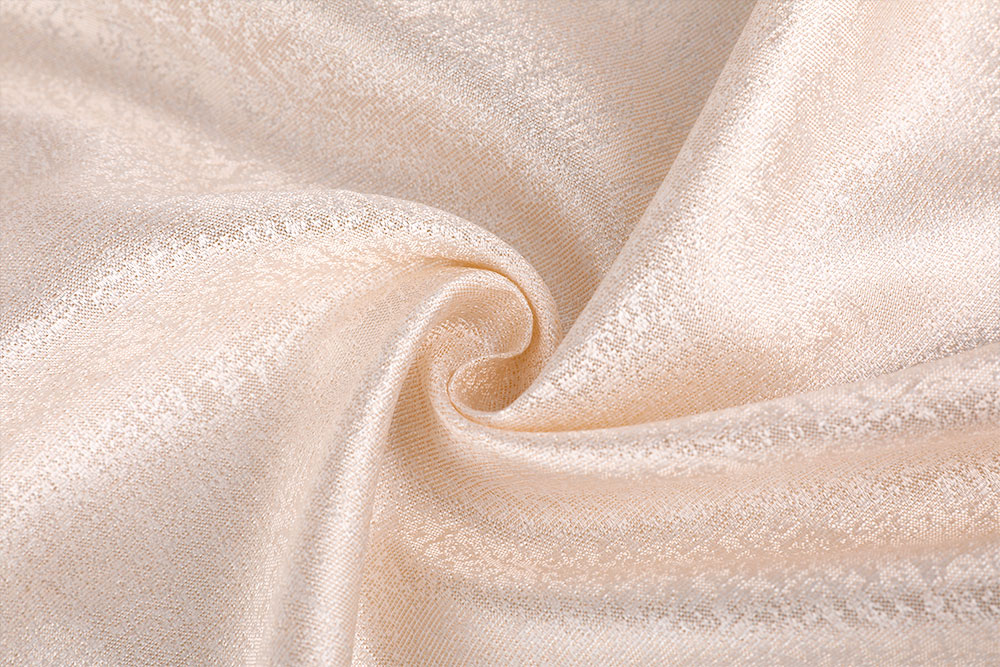 Flame retardant jacquard curtain fabric
