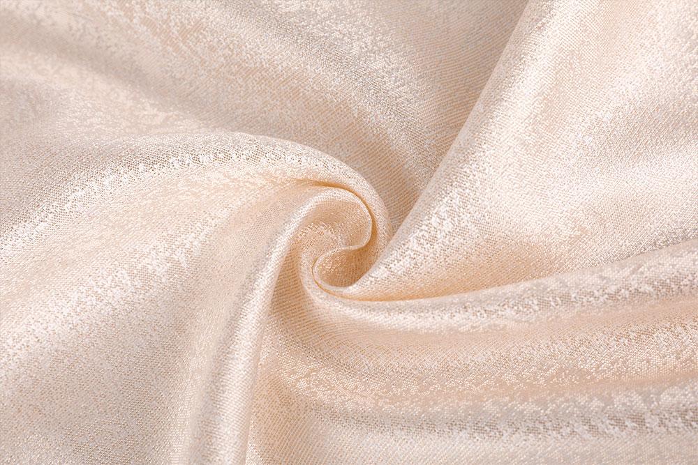 Flame retardant jacquard curtain fabric