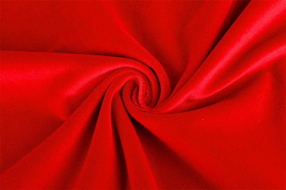 IFR cut pile velvet fabric for stage curtain