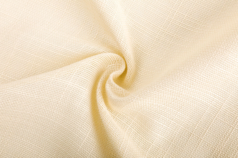 IFR linen-like sheer curtain fabric for hotel
