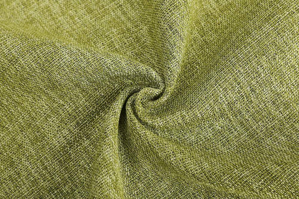 Inherently flame retardant linen-like blackout curtain fabric for hotel