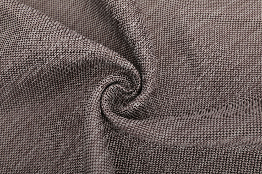 Inherently flame retardant linen-like blackout curtain fabric