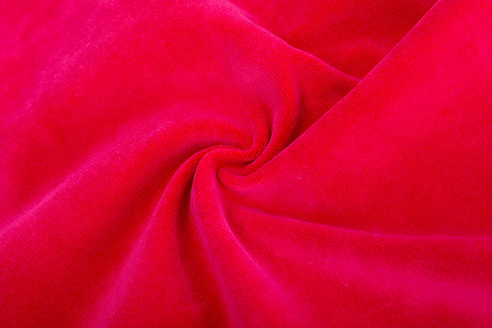 Inherently flame retardant velour fabric for stage curtain