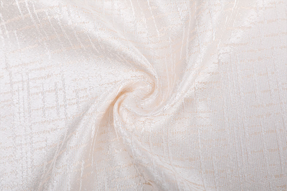 Fire retardant jacquard curtain fabric