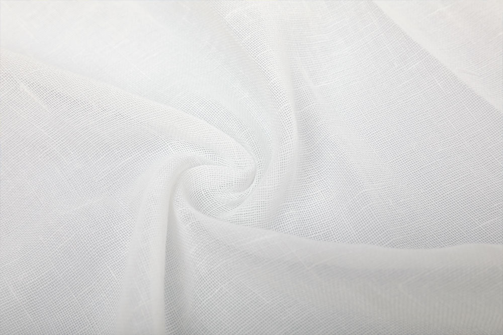 IFR linen-like voile curtain fabric