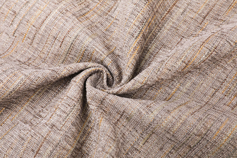 Inherently flame retardant chenille curtain fabric