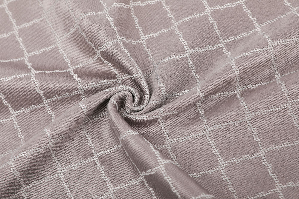 Permanently flame retardant jacquard chenille curtain fabric