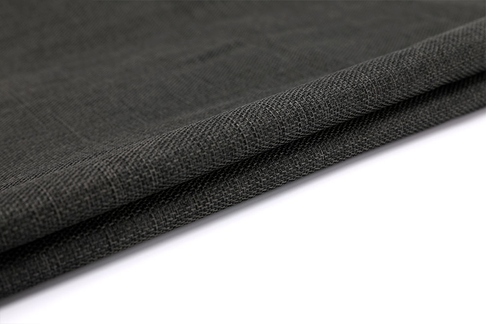 Inherently fire retardant imitation linen curtain fabric