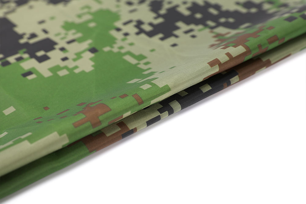 Camo printed 190T FR and WR PU coated taffeta fabric for tent