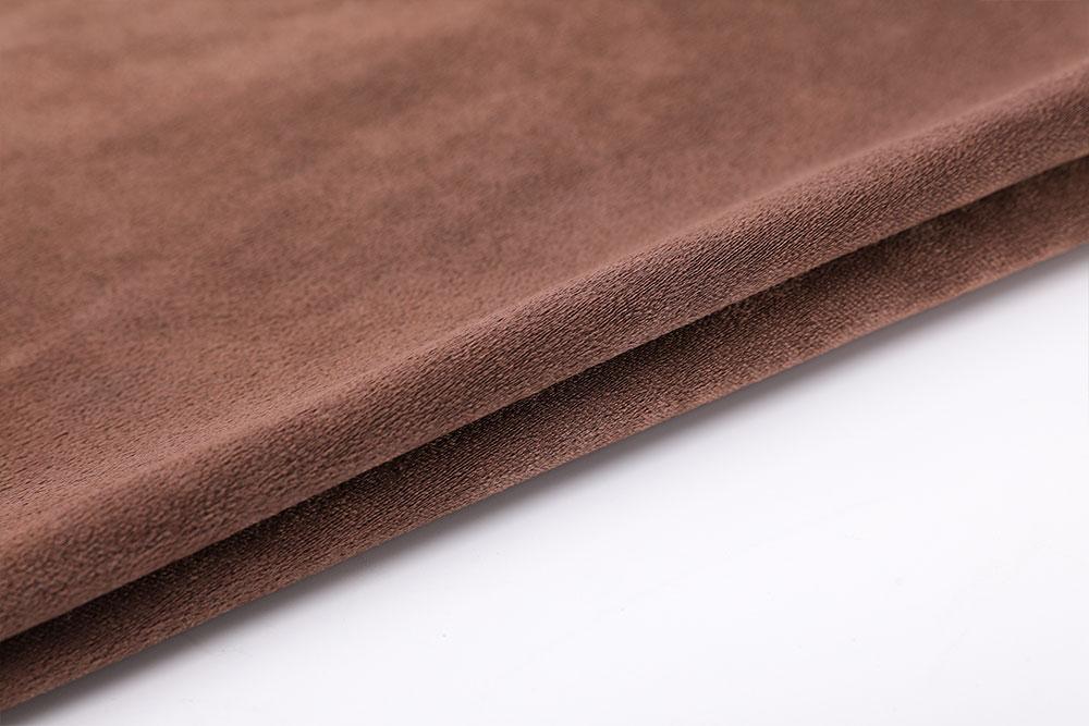 Inherently flame retardant blackout curtain fabric