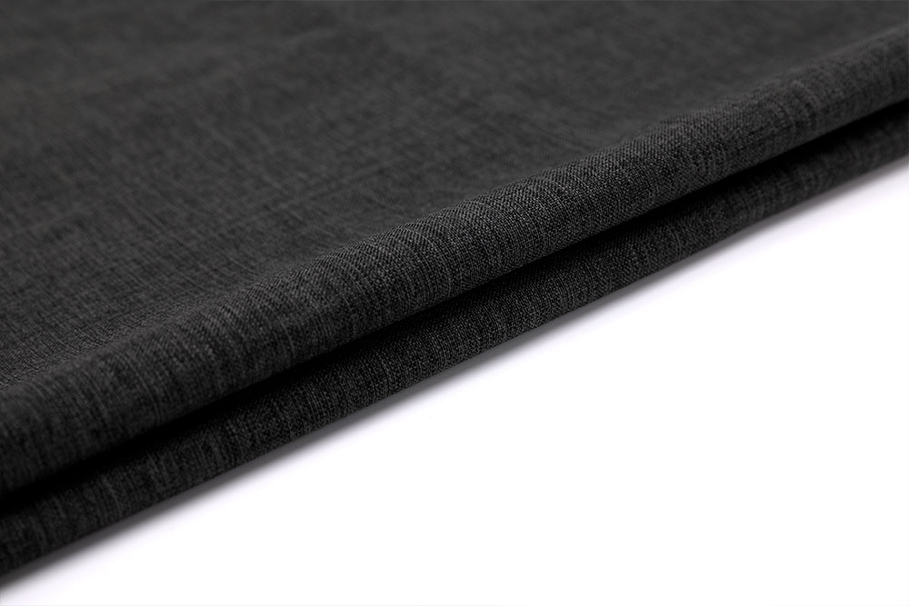 Inherently fire retardant linen-like curtain fabric
