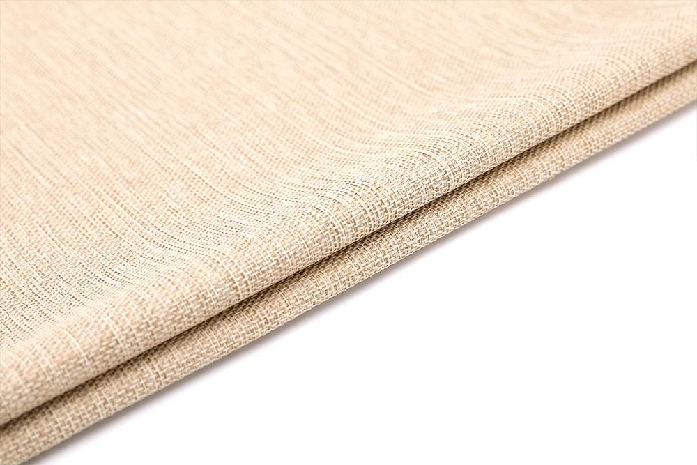 Permanently fire retardant linen-like curtain fabric for hotel
