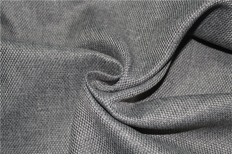 Fire retardant linen-like blackout curtain fabric for hotel