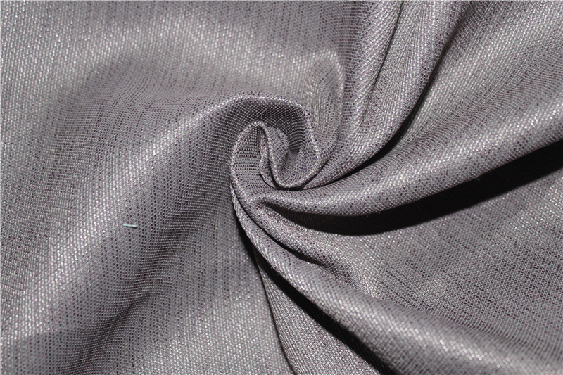 Flame resistant imilation linen blackout curtain fabric