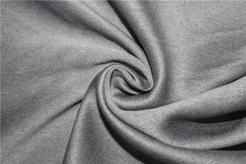 Flame resistant blackout curtain fabric for hotel