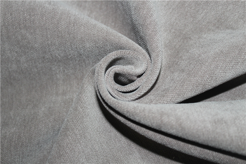 Flame resistant chenille curtain fabric for hotel