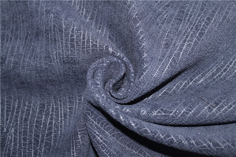FR embossed chenille curtain fabric for hotel