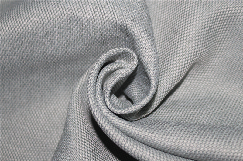 Inherent fireproof imitation linen blackout curtain fabric