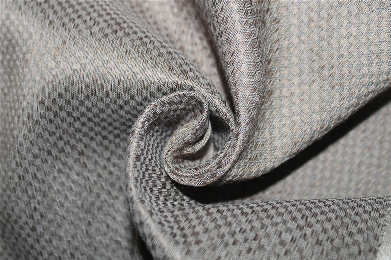Inherent fireproof linen-like blackout curtain fabric for hotel